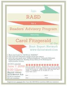 Readers Advisory flyer