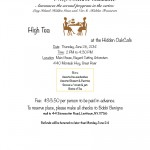 High Tea with the Retiree Committee, June 26th