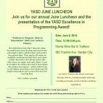 YASD Luncheon, June 5th, 2014