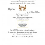 High Tea at the Hidden Oak Cafe, June 26th