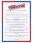 New York Comic Con 2015 Panel Submissions, June 5th