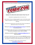 New York Comic Con 2016 Panel Submissions, June 3