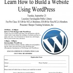Learn How to Build a Website Using WordPress, Tuesday, September 23rd