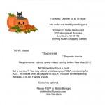 Spooktacular Retiree Meeting, Thursday, October 30th, 12 noon