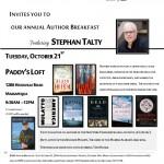 RASD Annual Author Breakfast, October 21st