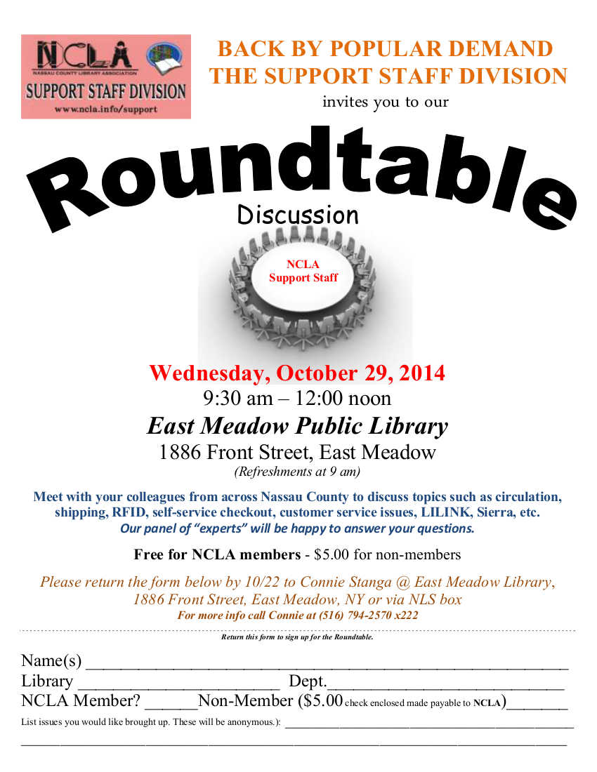 Round table discussion flyer - Round Table Discussion Flyer 0
