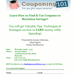 NCLA Couponing Workshop Event Flyer.