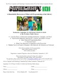 Minecraft 101: A Roundtable Discussion of Minecraft Programming at the Library, September 30
