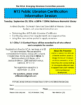 NYS Public Librarian Certification Information Session, September 20th