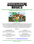 LILC: Minecraft Basics, May 5