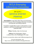 June 16th, Emerging Librarians Committee General Interest Meeting