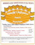 Reference & Adult Services Presents a Reader's Advisory Panel & Round Robin