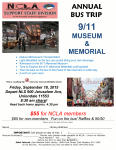 Support Staff Bus Trip, 9/11 Museum and Memorial, September 18th