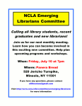 Emerging Librarians Committee July Meeting