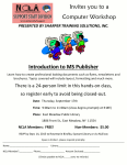 Introduction to Microsoft Publisher Event Flyer.