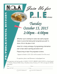 October 13th, Join us for P.I.E. (Program Info Exchange)