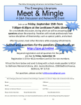 September 25th, Emerging Librarians Meet and Mingle Networking Event