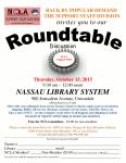 October 15th, Annual Support Staff Division Roundtable