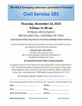 November 12th, Civil Service 101 Workshop