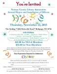 November 12th, NCLA Annual Dinner and Installation of Officers