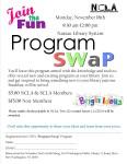 November 16th, CSD Program Swap