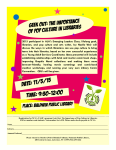 Geek Out: The Importance of Pop Culture in Libraries Event Flyer.