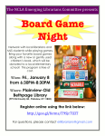 Board Game Night Event Flyer.