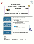 Retiree Workshop Intro to Twitter and Instagram.
