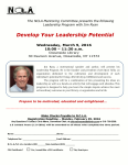 March 9th, Develop Your Leadership Potential