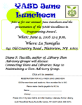 June 9th, YASD June Luncheon, Connecting Teens and Libraries