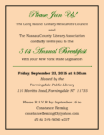 31st Annual Breakfast with New York Legislators, September 23rd