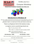 Introduction to Windows 10, October 6th