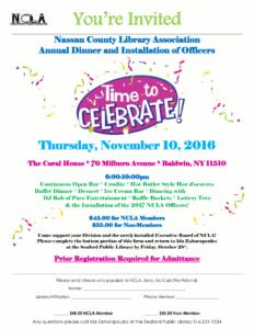NCLA Dinner (2016) Event Flyer.