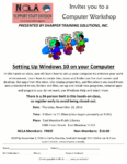 Set Up Windows 10 On Your Computer Event Flyer.