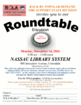 November 14th, Support Staff Roundtable