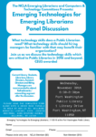 November 30th, Emerging Technologies for Emerging Librarians Panel Discussion