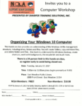 Organizing Windows 10, January 17th