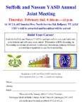 February 2nd, Suffolk and Nassau YASD Annual Joint Meeting