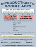 Introduction to Google Apps, April 28th