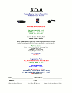 2017 Media Roundtable Event Flyer