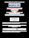 Civil Service Basics 101, April 28th