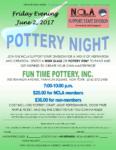 Pottery Night, June 2nd