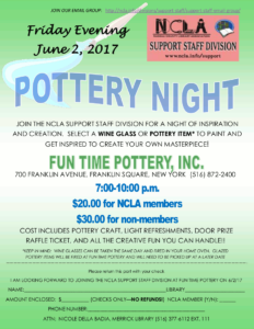 Pottery Night Event Flyer.
