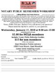 Notary Public Refresher Workshop