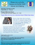Nassau & Suffolk YASD Annual Joint Meeting, February 8th