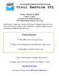The Emerging Librarians Committee Presents Civil Service 101