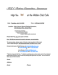 NCLA Retiree Committee Announces: High Tea at the Hidden Oak Cafe