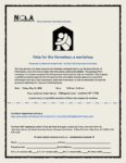 NCLA Outreach Committee presents: Help for the Homeless: a workshop