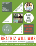 SAVE THE DATE! RASD Annual Author Breakfast