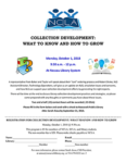 NCLA Children's Services Division presents COLLECTION DEVELOPMENT: WHAT TO KNOW AND HOW TO GROW